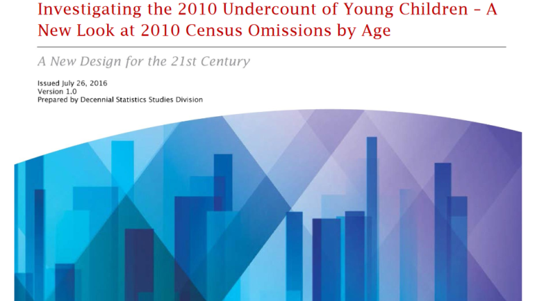 Investigating the 2010 Undercount of Young Children – A New Look at 2010 Census Omissions by Age